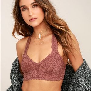 Free people galloon lace bralette in cocoa